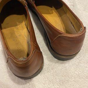 Salvatore Ferragamo Shoes - Salvatore Ferragamo Brown Leather Slip On Loafers
